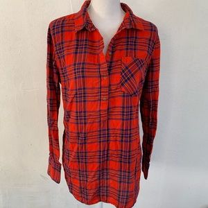 Merona Plaid Cozy Flannel Pullover Top